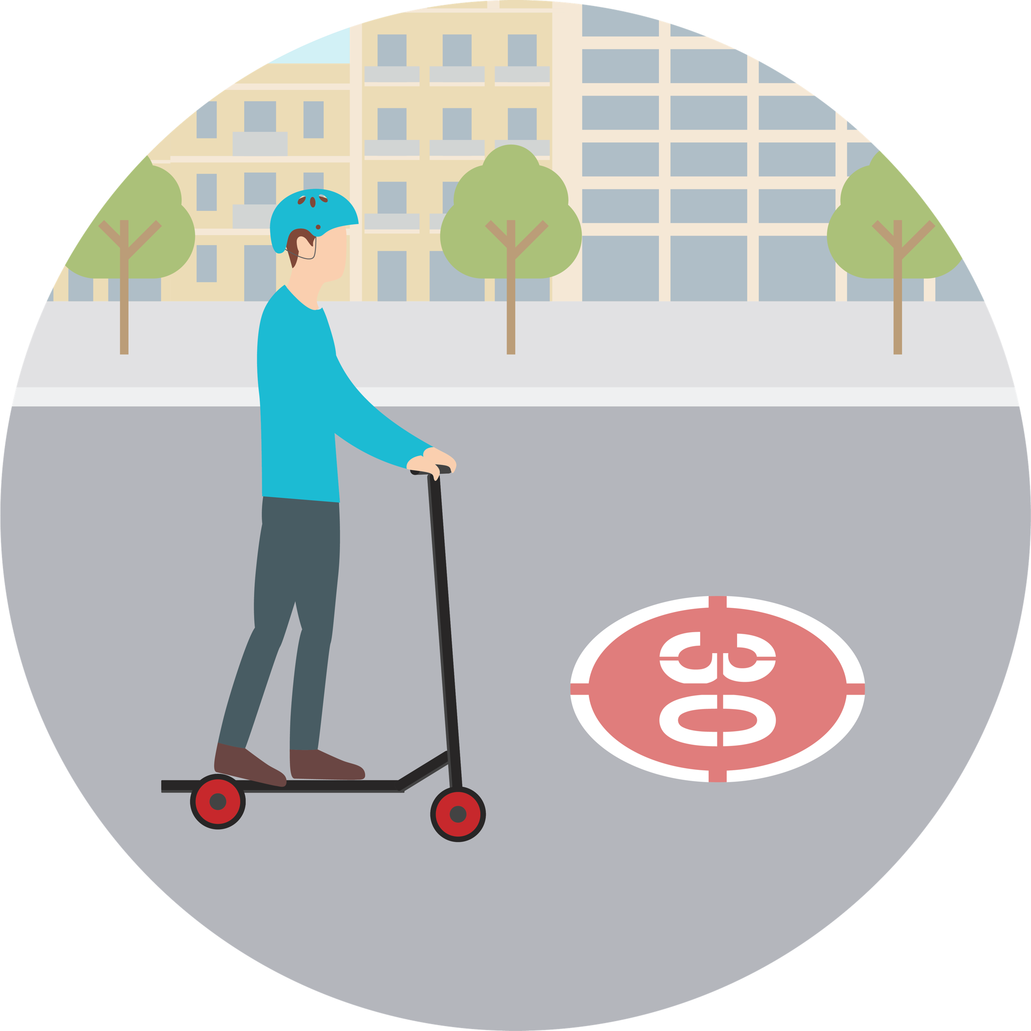 Can I ride electric scooters on the 30 km/h lane in Barcelona?