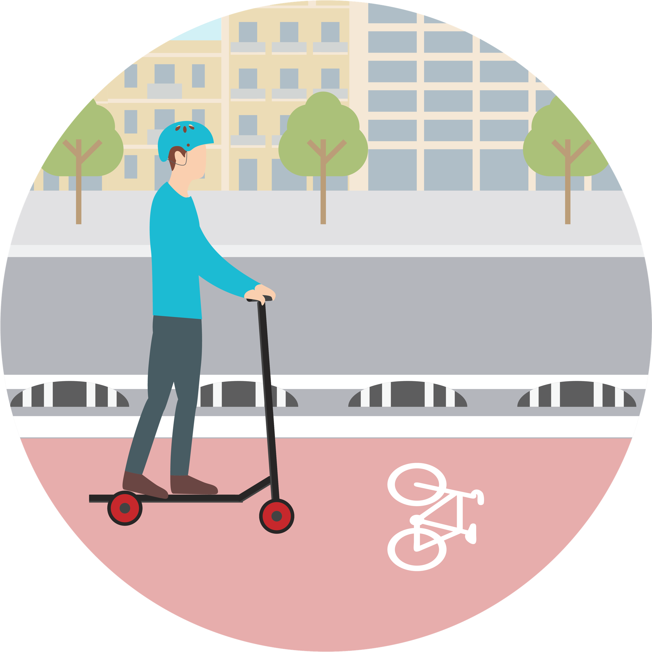 Can I ride electric scooters on the bike lanes in Barcelona?
