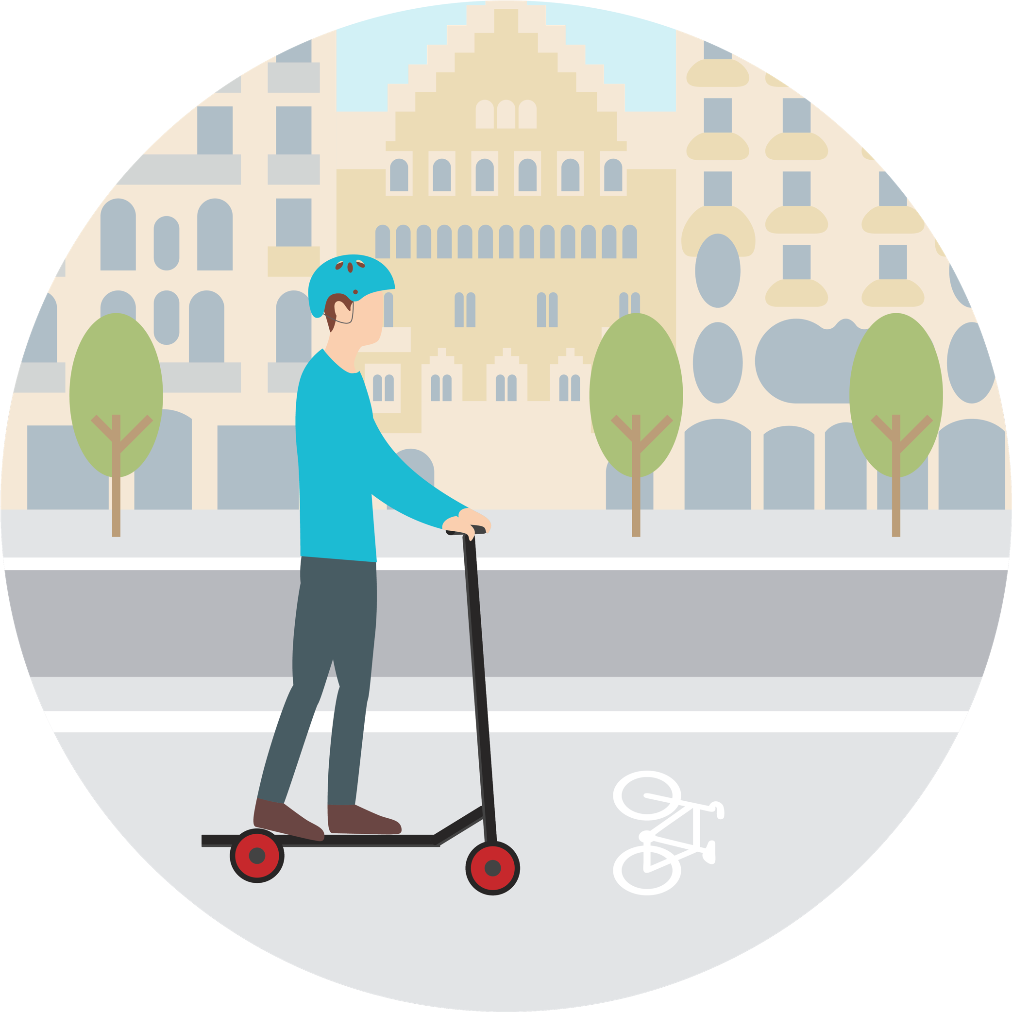 Can I ride electric scooters on the bike lanes on sidewalks in Barcelona?
