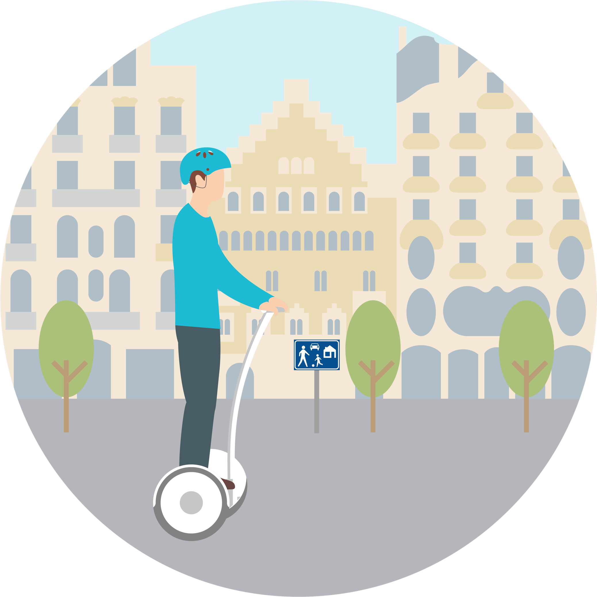 Can I ride electric scooters on the pedestrian zones in Barcelona?