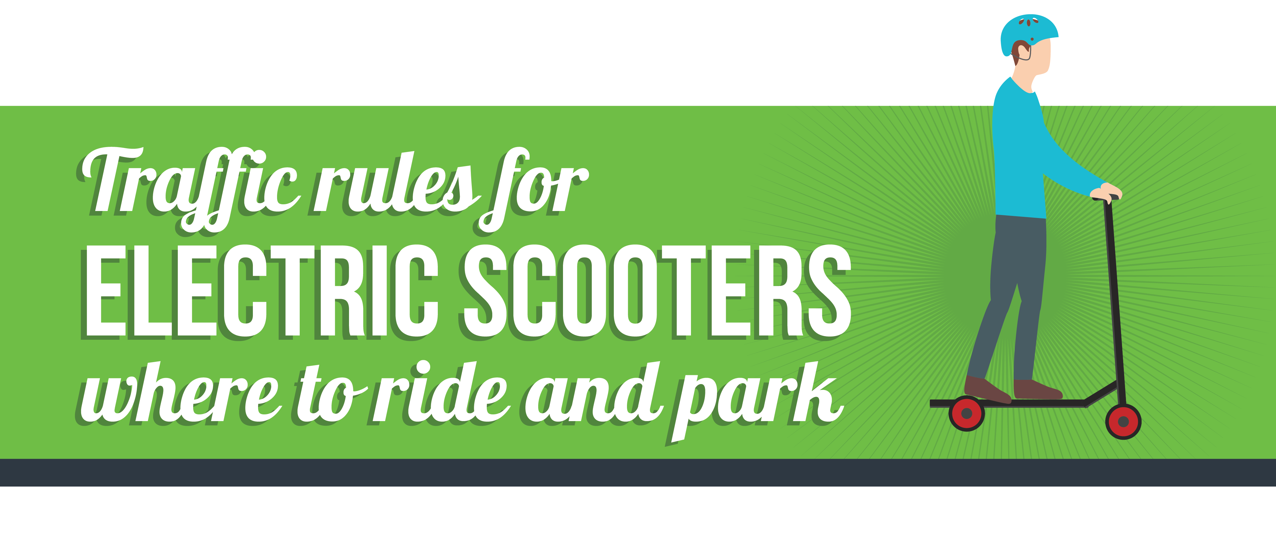 Traffic rules for electric scooters - Where are you allowed to ride and park